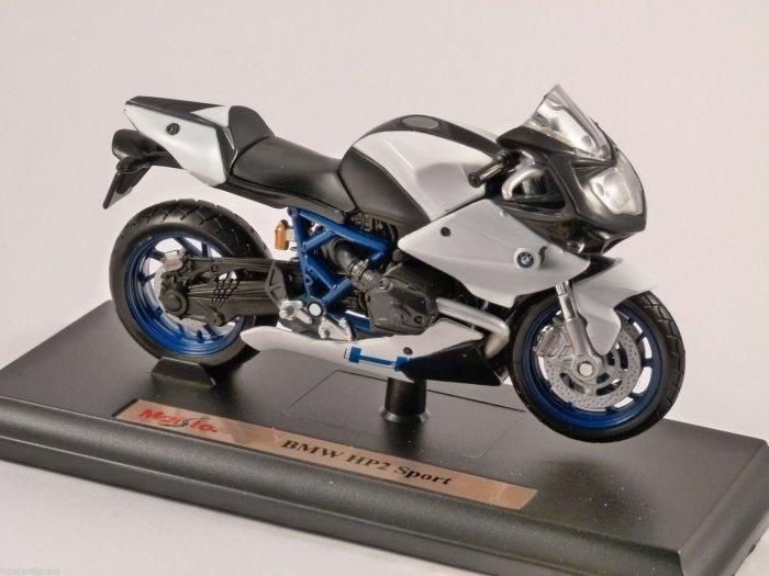 BMW HP2 SPORT 1/18 scale motorbike model by MAISTO