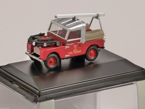 "LAND ROVER 88"" S1 FIRE BRITISH RAIL - 1/76 scale model OXFORD DIECAST"