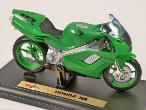 HONDA NR in Green 1/18 scale motorbike model by MAISTO