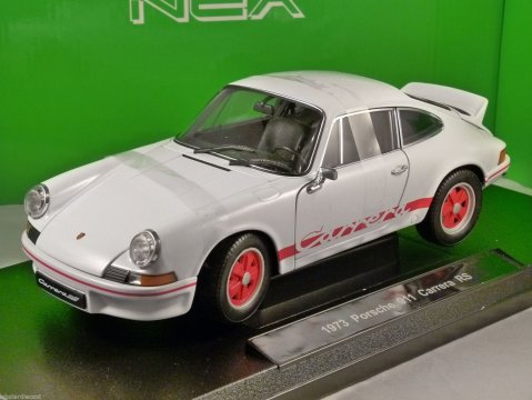 1973 PORSCHE 911 CARRERA RS in White 1/18 scale model by WELLY