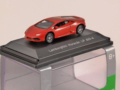 LAMBORGHINI HURACAN LP610-4 in Red 1/87 scale model WELLY