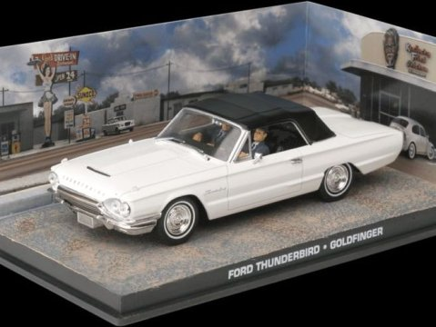 FORD THUNDERBIRD - Goldfinger - 1/43 scale model James Bond Collection