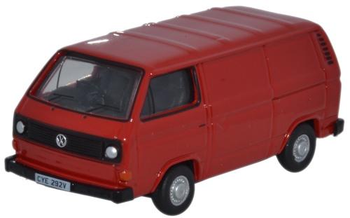 VOLKSWAGEN T25 Van in Orient Red1/76 scale model OXFORD DIECAST