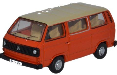 VOLKSWAGEN T25 Bus in Brilliant Orange 1/76 scale model OXFORD DIECAST
