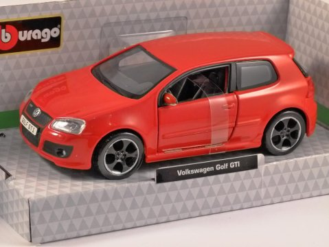 VOLKSWAGEN GOLF MkV GTi Edition 30 in Red 1/32 scale model by Burago