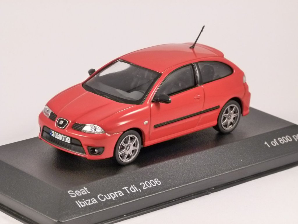 2006 seat ibiza cupra tdi 1 43 scale model by whitebox. Black Bedroom Furniture Sets. Home Design Ideas