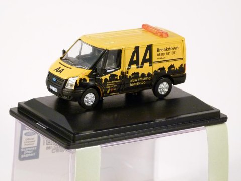 FORD TRANSIT Low Roof Van - AA - 1/76 scale model OXFORD DIECAST