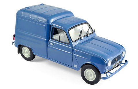 1965 RENAULT 4 FOURGONNETTE Van in Blue 1/18 scale model by Norev