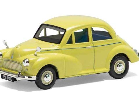 MORRIS MINOR 1000 in Yellow 1/43 scale model CORGI 60th Anniversary Model