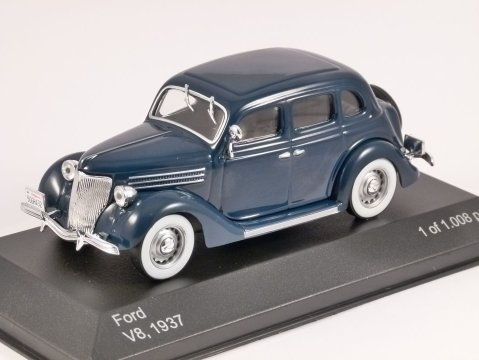 1937 FORD V8 in Blue 1/43 scale model by Whitebox