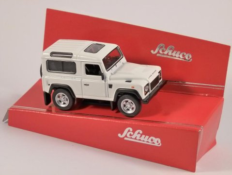 Schuco LAND ROVER DEFENDER in White - 1/64 scale model