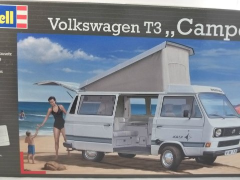 VOLKSWAGEN T3 CAMPER 1/25 scale plastic kit by REVELL