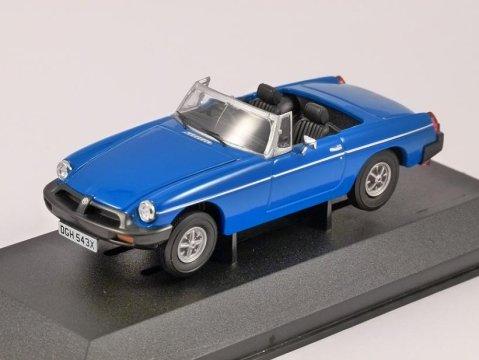 MGB in Pageant Blue 1/43 scale model CORGI Vanguards