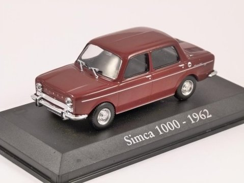 1962 Simca 1000 in Dark Red 1/43 scale diecast model car by RBA Collectables