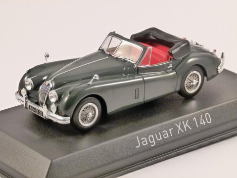 JAGUAR XK140 CABRIOLET in Grey - 1/43 scale model NOREV