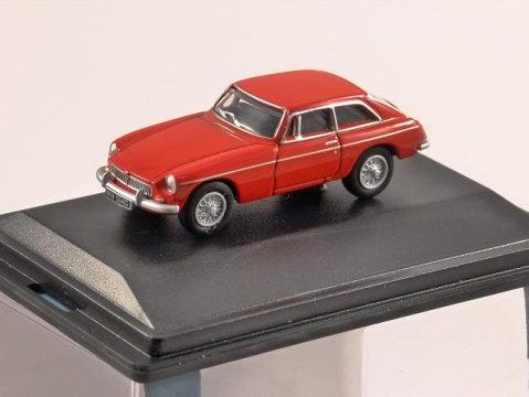 MGBGT in Tartan Red - 1/76 scale model OXFORD DIECAST