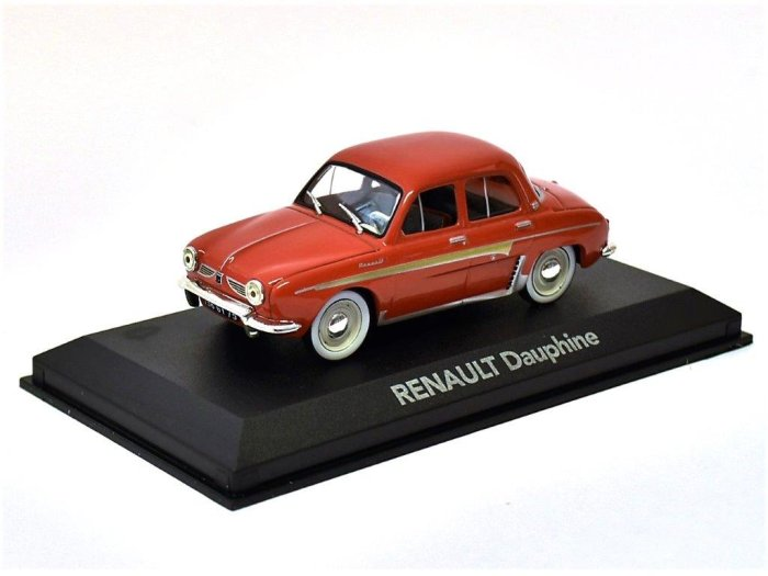 RENAULT DAUPHINE in Red - 1/43 scale partwork model