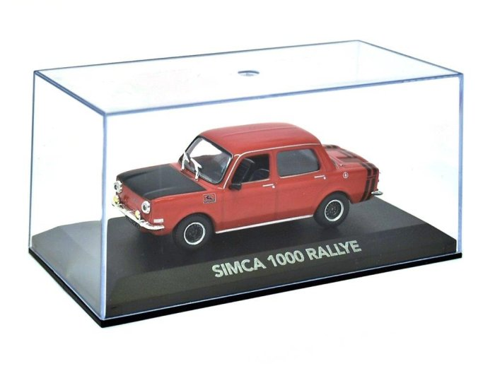SIMCA 1000 RALLYE in Red - 1/43 scale partwork model