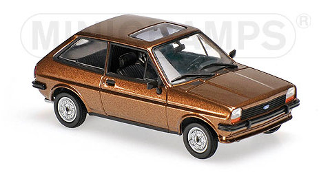 FORD FIESTA Mk1 in Light Brown 1/43 scale model by Minichamps / Maxichamps