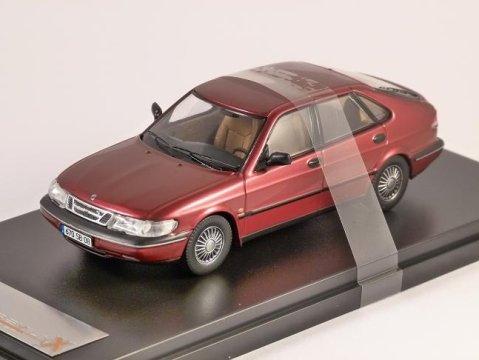 1994 SAAB 900 V6 in Dark Red 1/43 scale model by PREMIUM X