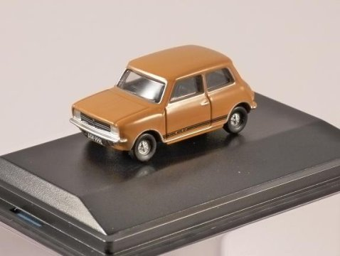 MINI 1275GT in Bronze Yellow - 1/76 scale model OXFORD DIECAST