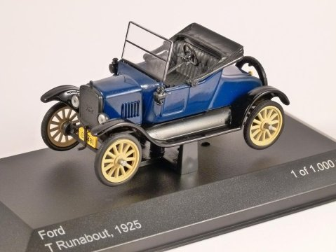 1925 FORD MODEL T RUNABOUT 1/43 scale model by Whitebox