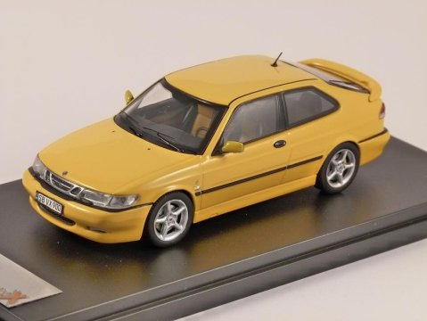1999 SAAB 9-3 VIGGEN in Yellow 1/43 scale model by PREMIUM X