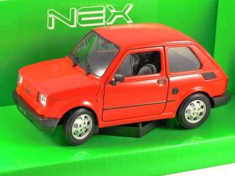 FIAT 126 in Red 1/24 scale model by WELLY