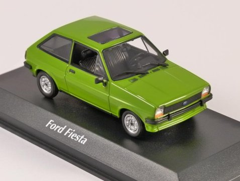 1976 FORD FIESTA Mk1 in Light Green 1/43 scale model by Maxichamps