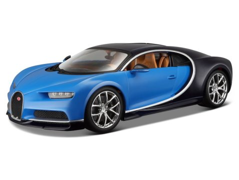 BUGATTI CHIRON in Blue / Black 1/18 scale model by Burago