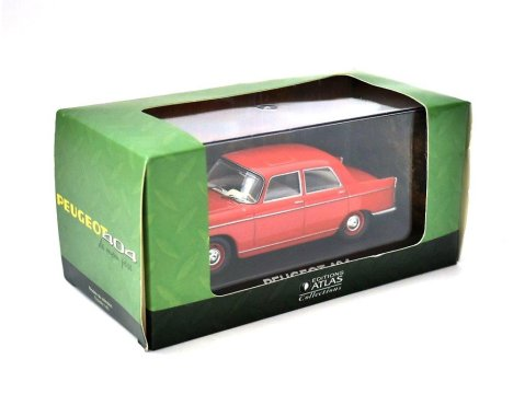 PEUGEOT 404 in Red - 1/43 scale partwork model