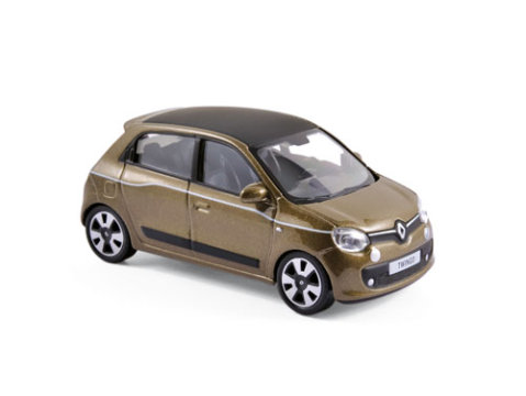 2014 RENAULT TWINGO in Cappuccino Brown - 1/43 scale model NOREV