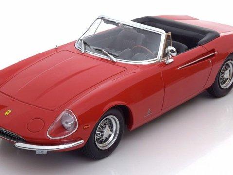 1966 FERRARI 365 CALIFORNIA SPYDER in Red 1/18 scale model by KK Scale Models