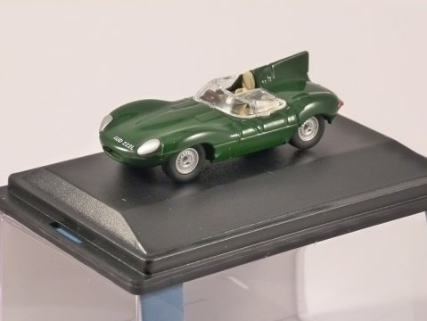 JAGUAR D TYPE in Green 1/76 scale model OXFORD DIECAST