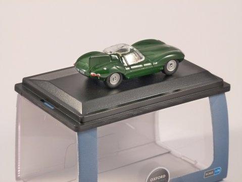 JAGUAR D TYPE in Green 1/76 scale model OXFORD DIECAST