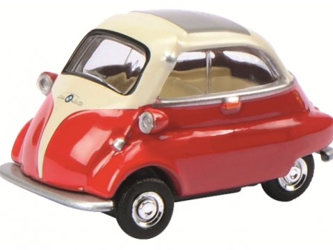 Schuco BMW ISETTA in Red / Beige - 1/64 scale model