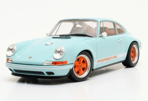 2014 SINGER PORSCHE 911 in Blue 1/18 scale model by Cult Scale Models