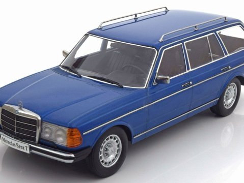 MERCEDES 250T W123 ESTATE in Blue 1/18 scale model by KK Scale Models