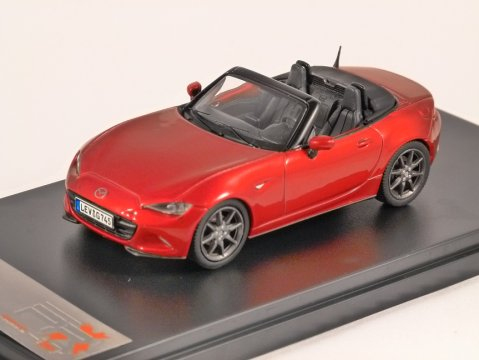 2016 MAZDA MX-5 in Red 1/43 scale model by PREMIUM X