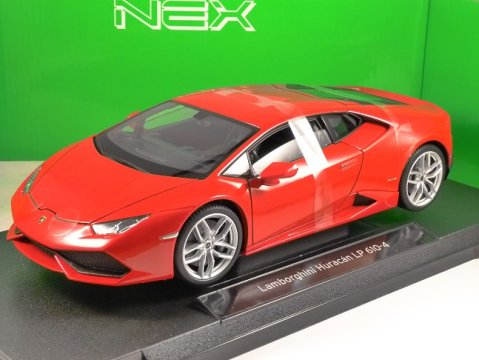 LAMBORGHINI HURACAN LP610-4 in Red 1/18 scale model by WELLY