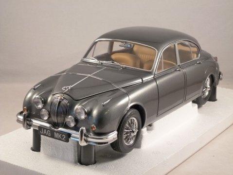 Jaguar Mark II 1962 3.8 in Gunmetal Grey 1/18 scale model by Paragon