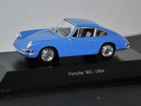 1964 PORSCHE 901 in Blue - 1/43 scale partwork model - Porsche 911 Collection
