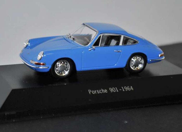 1964 PORSCHE 901 in Blue - 1/43 scale partwork model - Porsche 911 Collection