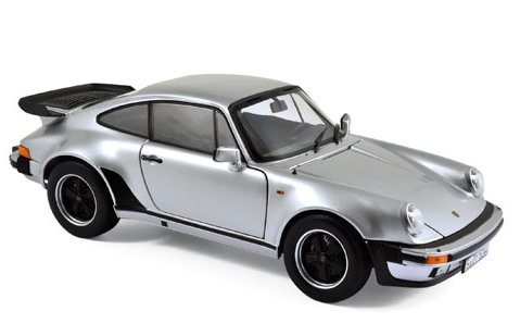 1977 PORSCHE 911 TURBO 3.3L in Silver 1/18 scale model by NOREV