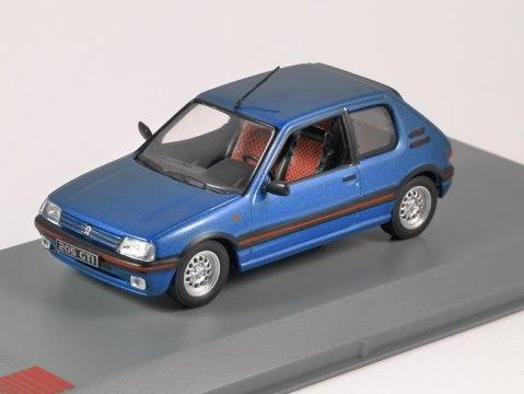 1992 PEUGEOT 205 1.6 GTi in Blue 1/43 scale model by Whitebox