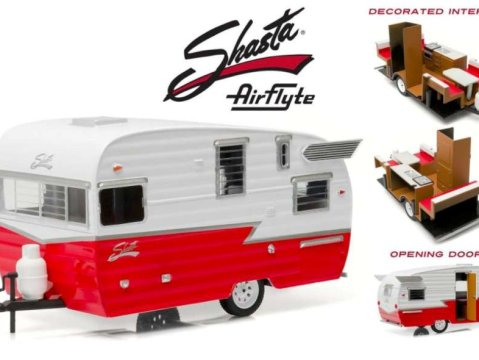 SHASTA AIRFLYTE 15' CARAVAN / TRAILER 1/24 scale model by Greenlight