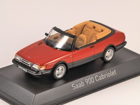 1992 SAAB 900 TURBO CABRIOLET in Red 1/43 scale model by Norev