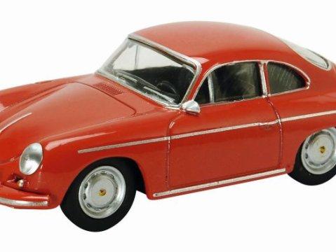 Schuco PORSCHE 356 CARRERA 2 in Red - 1/64 scale model