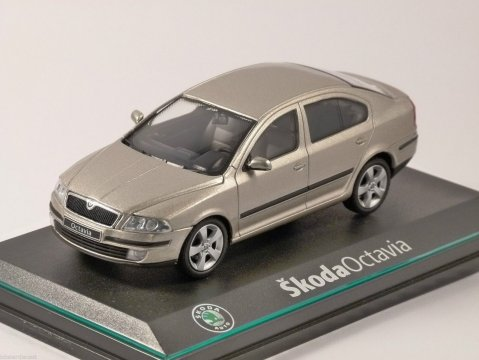 2004 SKODA OCTAVIA in Sahara Beige 1/43 scale model by ABREX