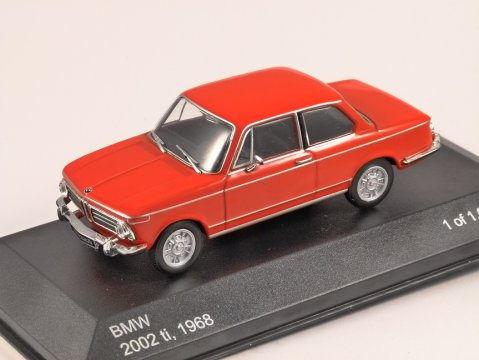 1968 BMW 2002 ti in Red 1/43 scale model by Whitebox